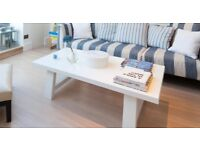Solid Wood White Coffee Table from Conran Shop