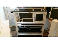 Gorgeous indoor wooden guinea pig / rabbit hutch