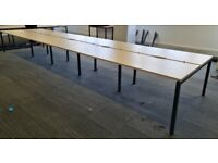 8-pod/bench office desks/tables for businesses Free delivery on orders over £70*