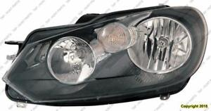 Head Lamp Driver Side High Quality Volkswagen Golf 2010-2014