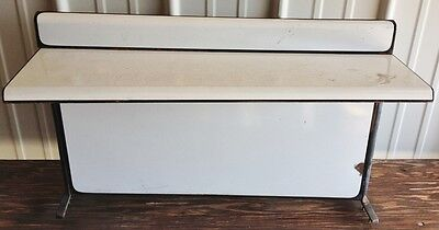 Vintage Porcelain Metal Stove Wall Shelf
