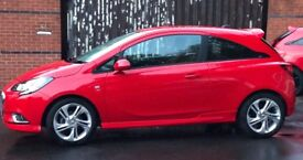 Vauxhall Corsa E 1..4 ecoFLEX SRi VX-Line 2016 3DR Bright Red Only 11K Miles 1 Keeper From New