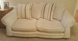 Cream Fabric Sofas - 2 Seater & 3 Seater