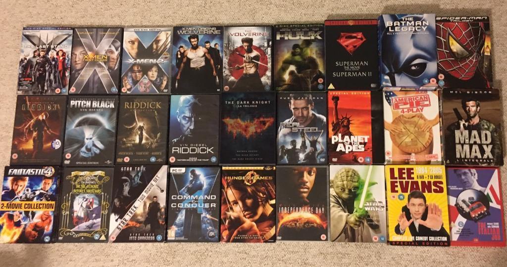 30 Modern DVDs, Many sets, £1 each