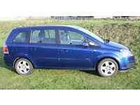 Unleaded 1.6 Vauxhall Zafira 57 plate with 11 months MOT Great car lots of new parts