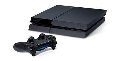 Sony PlayStation 4 (PS4) - 500 GB Jet Black Console System (with Controller)