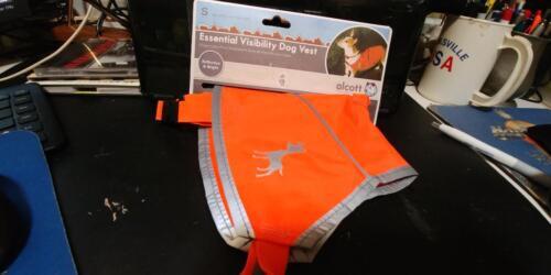 Alcott Essentials Visibility Dog Vest,  Neon Orange Reflective - SMALL
