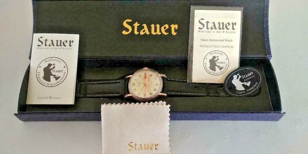 Stauer Buttonwood 42mm Watch - HISTORICAL REPRODUCTION, NEW