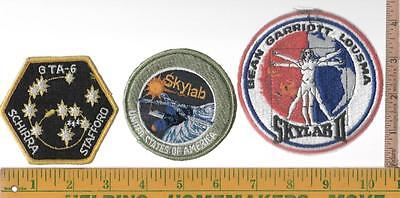 NASA 3 UNUSED EMBROIDERED SHOULDER OR POCKET PATCHES UNSEWN