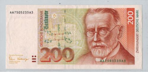 1989 Germany 200 Mark Bank Note P#42