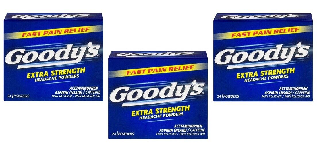 -Goody's Extra Strength, Headache Powders, 24 Count each