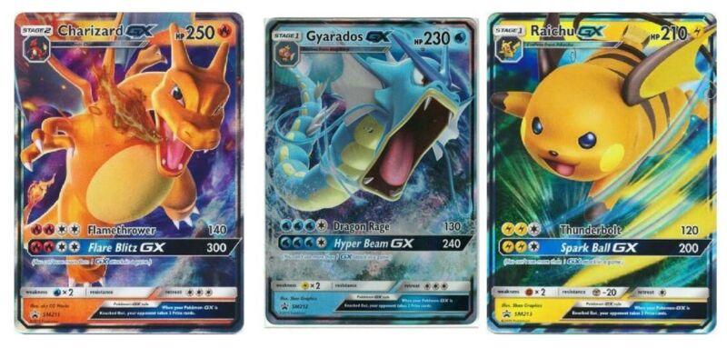 POKEMON TCG HIDDEN FATES PROMO CARDS CHARIZARD GYARADOS RAICHU GX SM211-213