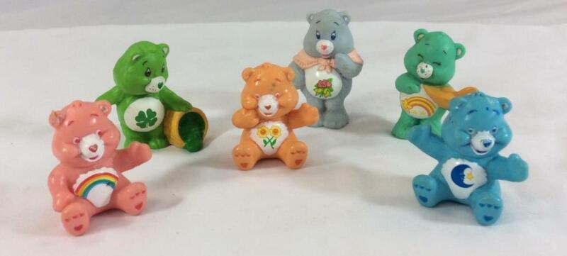 "Care Bears Lot of (6) PVC 2"" Figurines 1980"