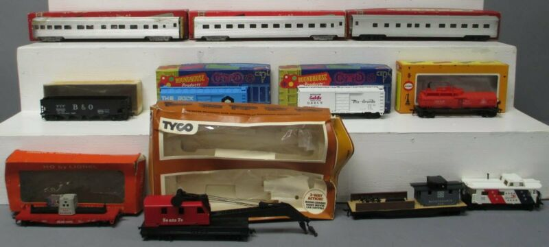 Rail Chief, Roundhouse, Tyco & Other HO Assorted Freight & Passenger Cars [11]