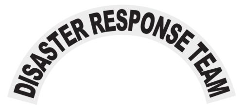 Disaster Response Team Black Helmet Crescent Reflective Decal Sticker
