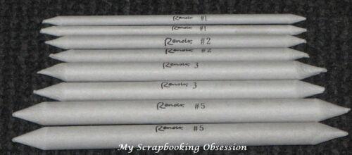 Renoir PAPER STUMPS 8pcs Assorted Sizes - Blending Tool -  Drawing Mix Media/Art