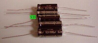 1000 Mfd Uf High Temp 105c Capacitor 6.3v - Axial Qty 4 105 Deg C 221 Deg F