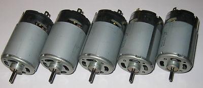 5 X Mabuchi 12v Dc Generators - 40 Watts Peak Power - 25 Watts Rated
