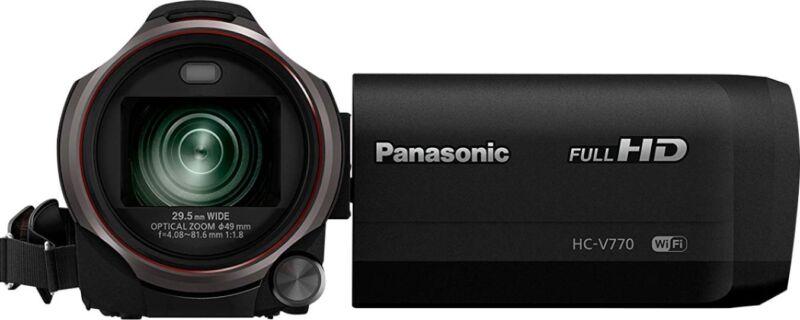 Panasonic HC-V770 HD Flash Memory Camcorder - Black