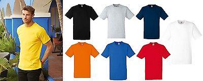 Herren-10 (Fruit of the Loom F182 Heavy Cotton T-Shirt Herren 10er Pack Arbeitsshirt Beruf)