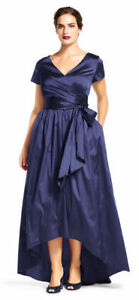 Adrianna Papell High Low  Royal Blue Taffeta Gown