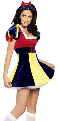 Sexy Snow White Costume Halloween Cosplay Adult Womens New (One Size - Snow White Costumes Women