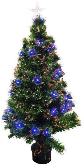 FIBRE OPTIC CHRISTMAS TREE - 31 INCHES (80 CM)..
