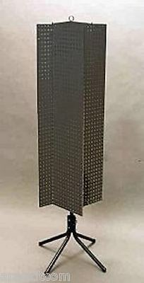Floor Pegboard Spinner Display Rack - 4 Sided 14 Peg Board 1 Oc Black