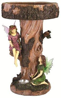 Gardenwize Fairy Tree Birdbath Table Garden Bird Bath Feature with Solar Light
