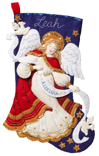 Bucilla 'Christmas Angel',  Christmas Felt Stocking Stitcher