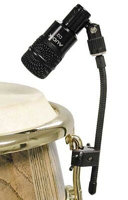 - 2 Audix DClamp Drum Microphone Clamps D-Clamp Clip Conga Bongo Hand Drums
