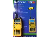 CRT FP 00 Dual Band amateur radio VHF/UHF Handset Yellow