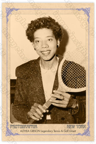 ALTHEA GIBSON Legendary Tennis and Golf Great Cabinet Card CDV RP