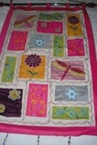 """""""Bombay"""" Embroidered Silk Wall Hanging"""