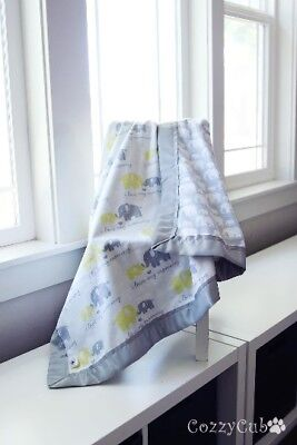 I Love Mommy Blanket, Elephant Baby Blanket, Flannel, Swaddle,Stroller Blanket