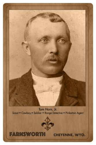 TOM HORN Infamous Old West Cowboy Scout Outlaw Lawman Cabinet Card A+ RP CDV