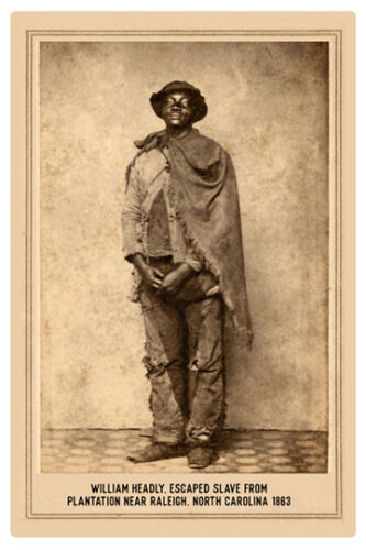 AFRICAN AMERICAN Escaped Slave William Headley 1863 RP Cabinet Card PHOTOGRAPH