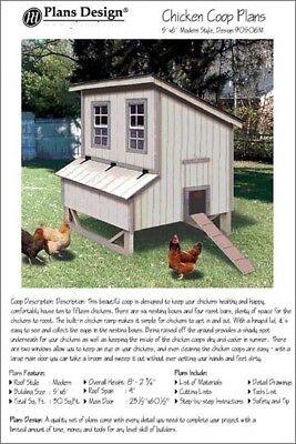 5x6 Chicken Coop Hen House Plans Modern Roof Style Design 90506m