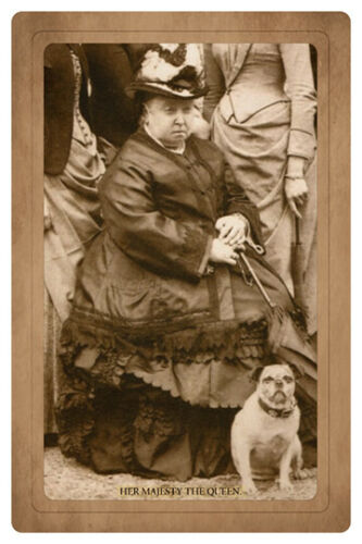 QUEEN VICTORIA ca1890s With Beloved Last Pet Dog Turi Photograph Cabinet Card RP