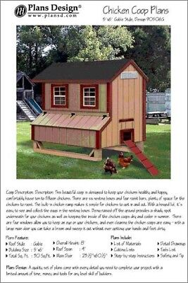 5x6 Chicken Coop Hen House Plans Gable Roof Style Design 90506g