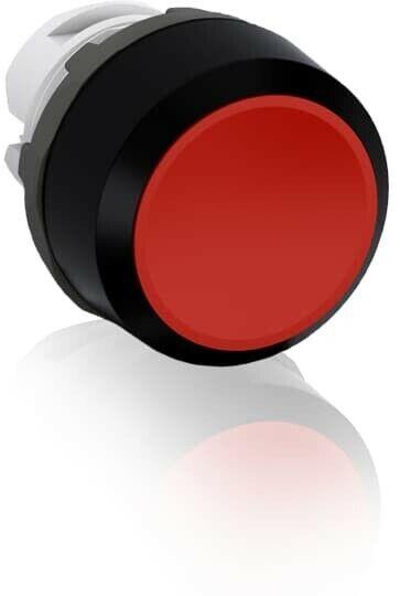 MP1-10R,MODULAR PUSHBUTTON, MOMENTARY, FLUSH, RED, NON-ILUMINATED, BLACK PL