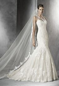Pronovias Mermaid Lace Wedding Dress Size 8