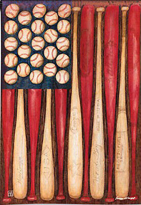 Garden Flag, Baseball Season, Patriotic, American Flag