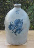 5 Gallon Decorated Jug (Warner or Eberhardt) from 1860's