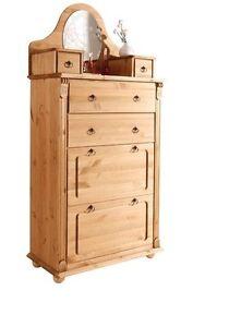 vertiko schuhschrank kiefernholz gelaugt ge lt schuhkommode ebay. Black Bedroom Furniture Sets. Home Design Ideas