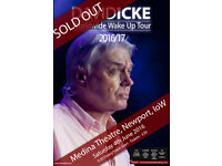 2 tickets for David Icke at Medina Theatre 18/06/2015 - World tour warm up.