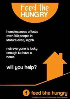 Could u donate $1 to help the homeless in Mildura? Irymple Mildura City Preview