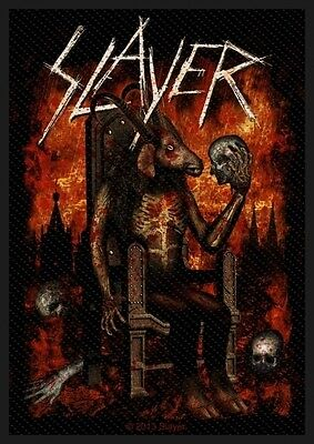 SLAYER - Devil on throne Patch Aufnäher 7x10cm