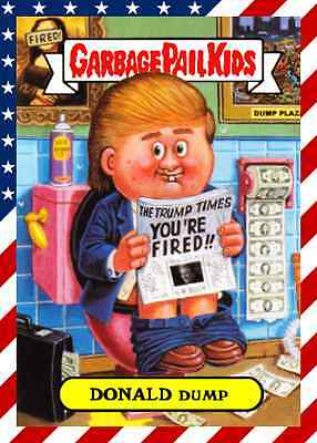 CUSTOM-MADE DONALD DUMP STICKER! PRESIDENT DONALD TRUMP USA garbage pail kids