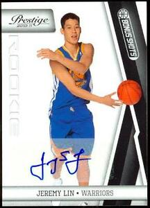 JEREMY-LIN-2010-Prestige-Panini-SP-AUTO-Rookie-Card-RC-44-99-New-York-Knicks-HOT